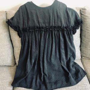 Zara TRF black smock mini dress w/shorts med euc